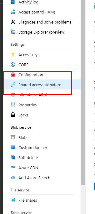 shared access signature azure
