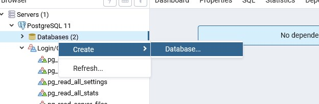 postgreSQL add db