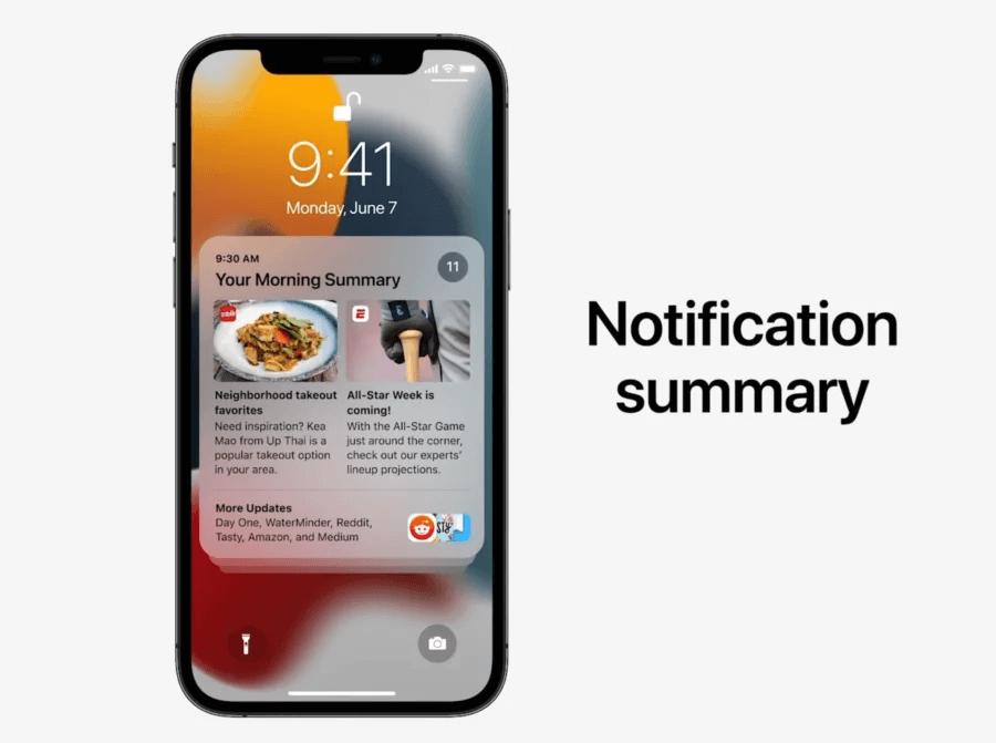 notifications iOS 15