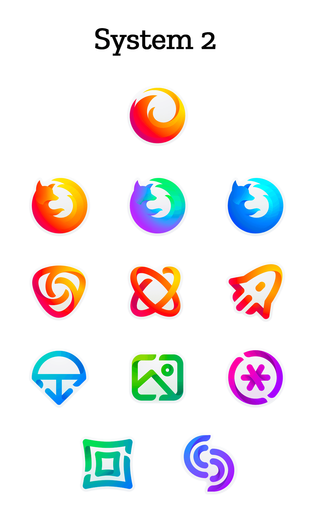 mozilla icons set